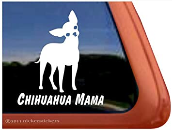 Amazoncom Chihuahua Mama Vinyl Window Decal Dog Sticker Automotive - Vinyl window decals amazon