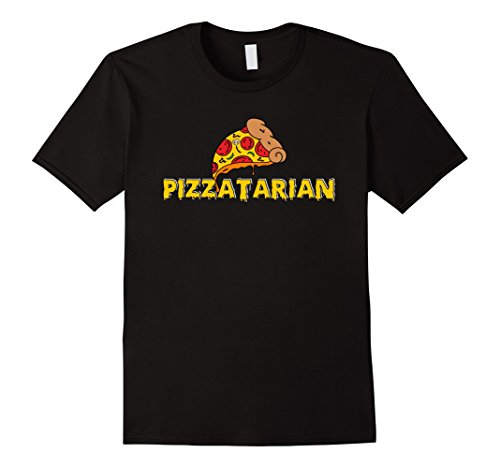 Pizza Time Invites (Mens I Like Pizza Tee Shirt Funny Pizzatarian Puzzle T-Shirt Large Black)