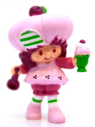 Strawberry Shortcake Raspberry Tart with a Tasty Sundae Kenner 1982 ()