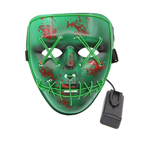 RinoDirect Horrifying Mask Halloween LED Light up Mask for Festival Cosplay Mask Halloween Costume -