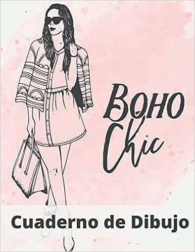 Book's Cover of Cuaderno de Dibujo: 21*28 cm  Diseño de Moda   100 Hojas   Para dibujo artistico de técnicas mixtas   Manta elegante y glamorosa (Cuaderno de croquis) (Español) Tapa blanda – 4 junio 2020