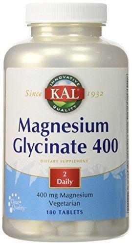 Magnesium Glycinate 400mg Kal 180 Tabs (Pack of 2)
