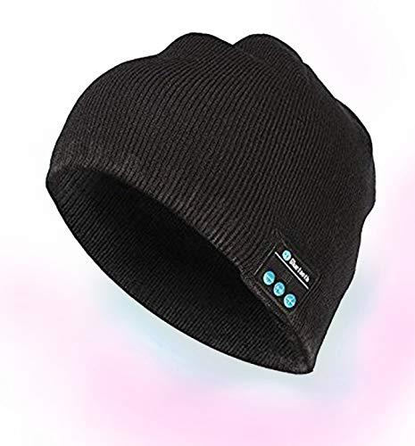 MadSound ワイヤレス Bluetooth ブラックビーニーヘッドセット 内蔵ヘッドホンスピーカー ハンズフリー 洗濯可能 音楽ハット B07J5PNTGS