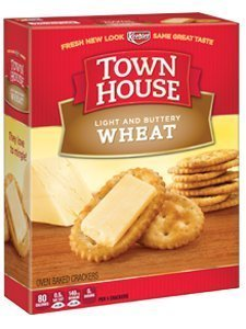 Keebler Town House Light Buttery Crackers Wheat by Keebler
