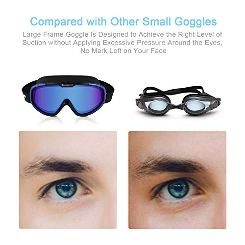 Swimming Goggles Fashionable Water Proof Seal /& Anti Fog /& UV-Protection 3D