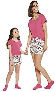 Conjunto de pijama Curto - Panda Lupo Meninas (Infantil)