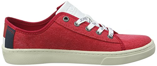 Rot Jeans Textile Tommy 645 Hilfiger Denim Damen Light Red Low Tommy Sneaker 78tWXqE