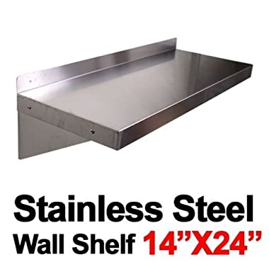 New Commercial Kitchen Restaurant Stainless Steel Wall Shelf Shelves - 14 x24 New Commercial Kitchen Restaurant Stainless Steel Wall Shelf Shelves - 14 x24