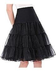 GRACE KARIN Women's 50s Petticoat Vintage Crinoline Underskirts