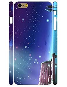 Creative Individualized Colorful Starry Night Durable Phone Aegis Case for Iphone 6 Plus 5.5 Inch