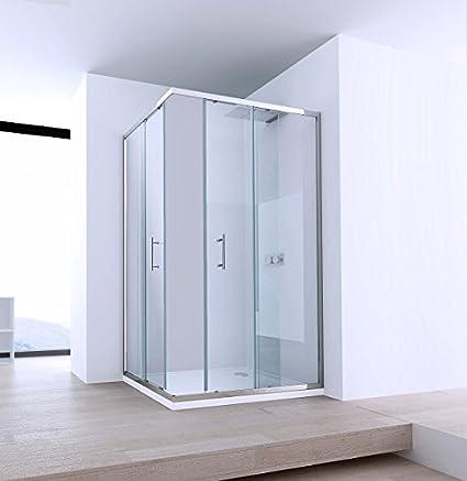 Box ducha dos lados deslizante aluminio y cristal 6 mm ...