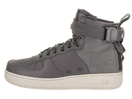 Nike Men's SF AF1 Mid Dark Grey/Dark Grey Light Bone Basketball Shoe 8 Men US (Bone Footwear Light)