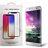 Galaxy S7 Edge Screen Protector (Case Friendly, 2-Pack), NORACRER TechSkin Screen Protector for Samsung Galaxy S7 Edge Clear HD Anti-Bubble Film (clear1)