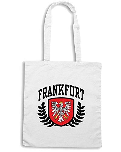 T-Shirtshock - Bolsa para la compra T0924 frankfurt germany calcio ultras Blanco