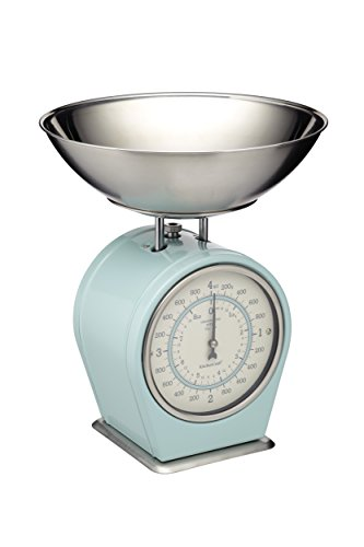 Kitchencraft Living Nostalgia Mechanical Kitchen Scales, 4kg (8 Lbs) - Vintage