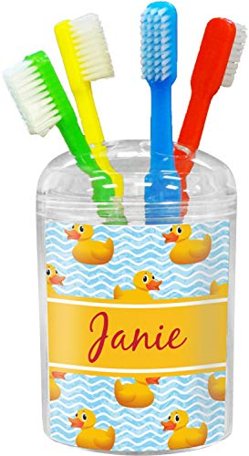 RNK Shops Rubber Duckie Toothbrush Holder (Personalized)