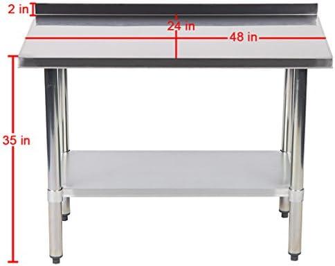 Amazon.com: 24 x 48 inch mesa de trabajo de acero inoxidable ...