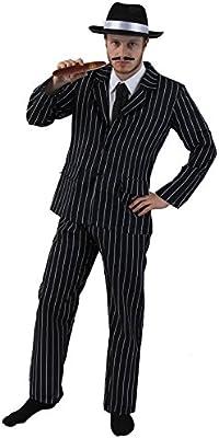 Disfraz de gánster de años 20 para adulto hombres – blanco y negro ...