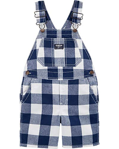 OshKosh B'Gosh Baby Boys World's Best Overalls, Navy Check, 12 - Blue Baby Overall