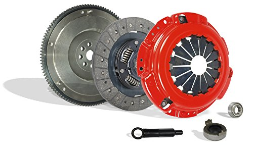 Clutch With Flywheel Kit Works With Honda Accord Prelude Acura Cl Dx Ex Lx Value Package Type SH VTEC 1990-2002 2.2L l4 2.3L l4 GAS SOHC 2.2L l4 GAS DOHC Naturally Aspirated (F22; F23; Stage 1)