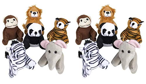 5-inch Zoo Animal Plush (Bulk Pack of 12 Pieces) by Adventure Planet