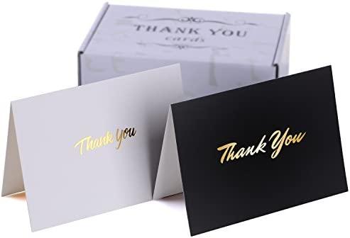 Tarjetas de agradecimiento en blanco con sobres – perfecto para bodas, baby shower, despedida de soltera o profesor – Tamaño de 10,1 x 14,8 cm, 50 ...