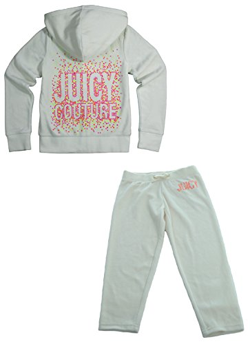 Juicy Couture Girls Neon Dot Tracksuit (Small 4-5 Ivory) by Juicy Couture