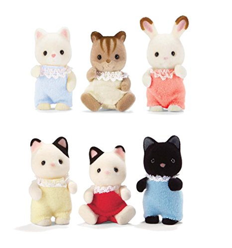 Calico Critters Baby Friends Triplets and Tuxedo Cat Triplets