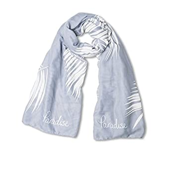 b05118109d6fc Katie Loxton - Scarf - Paradise Awaits - Pale Blue and Lilac: Amazon.co.uk:  Clothing