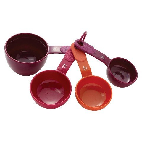 KitchenAid® 4 Piece Plastic Measuring Cup Set - Assorted Co