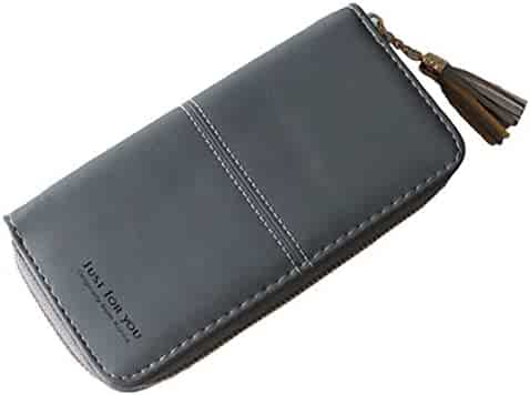 LanDream Lady Wallet Wallet/The Girl Short Card Package/Students Matte Clip/The Simple Fold-Money Clip Color : Grey Thin