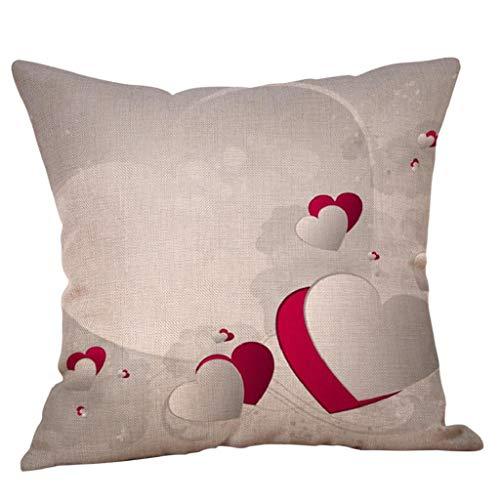Fundas de Cojines,SHOBDW Regalo de San Valentin 2019 Fundas de Almohada sofá Cama Suave Aniversario de Boda romántica decoración del hogar(45cmx45cm No ...