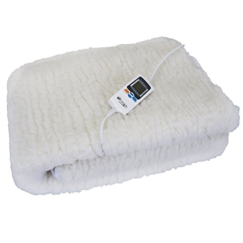 "EARTHLITE Massage Table Warmer Deluxe -  Digital Timer, 1"" Fleece Heating Pad, Auto Overheat Protection"