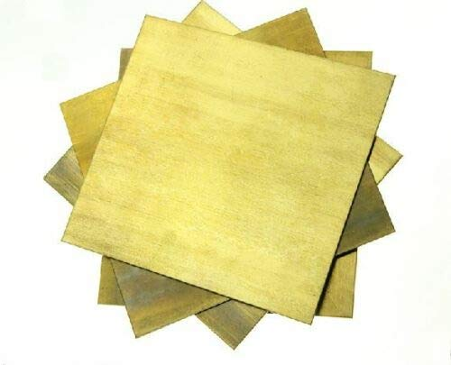 1pcs Brass Metal Sheet Plate 1.5 x 200 x 300 mm (H62) Excellent Ductility, high Strength by Brass Sheets