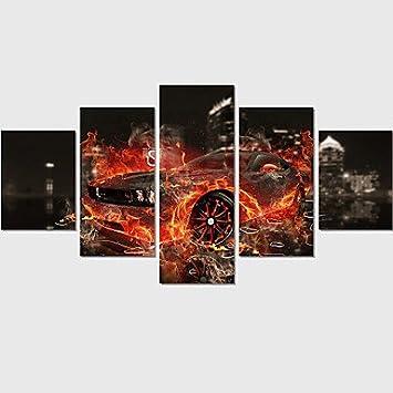 Wunderbar Gag Decorative Gemälde @ Hot Verkaufen Leinwand Set Von 5 Abstract Print  Auto Bilder