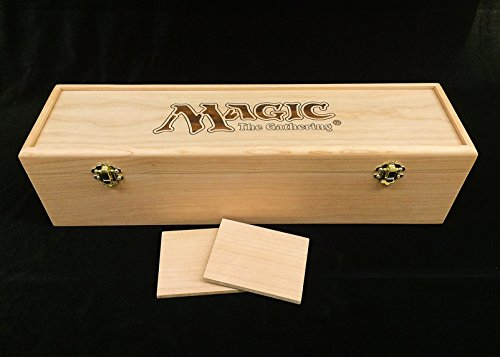 Magic the Gathering Engraved Deck Box with Hinges & 2 Latches-16 3/4x4 1/2 x4 1/4