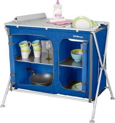 Berger camping Cocina Box Pablo de cocina con fregadero, Azul ...