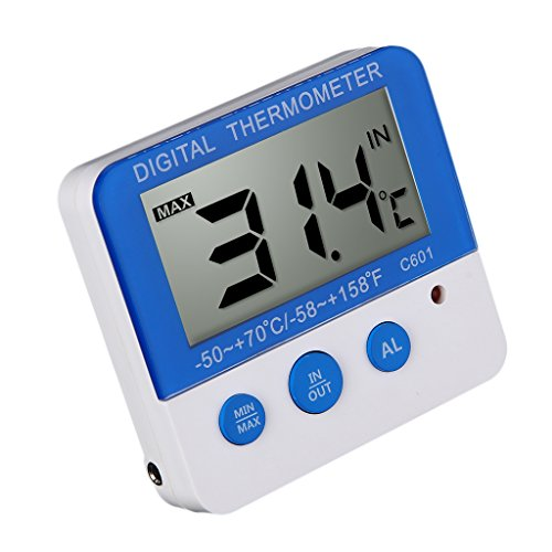 MagiDeal LED Display Alarm Thermometer/Hygrometer Temp Test Temperature Tester Humidity Meters - #2, as described