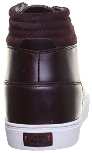 Boxfresh - Botas de cuero para hombre rojo - Burgundy
