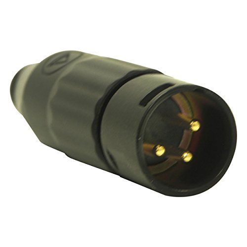 Price comparison product image Switchcraft AAA3MBAUZ 3 Pin XLR-M Cable Mount Gold Pins / Black Metal-by-Switchcraft