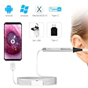 #LightningDeal USB Otoscope-Ear Scope Camera, Anykit New Upgraded 4.3mm Diameter Visual Ear Camera HD Ear Endoscope with Earwax Cleaning Tool and 6 Adjustable LED Lights for Android and Windows & Mac.