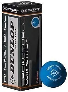 Dunlop Racketball concurrence faible rebond Balle de Squash officielle de Match-Lot de 3