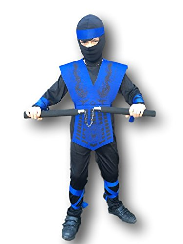 Rubber JohnniesTM Kids Shadow Ninja Costume by, Mortal Zero Combat, Dragon, Costume, GI, 3 Sizes