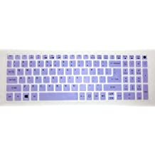 Leze - Ultra Thin Keyboard Cover for Acer Aspire V3-574 V3-575 V3-575T E5-573 E5-574G E5-575 E5-772G E5-532 V5-591G V15 V17 Nitro VN7-592G VN7-792G F15 F5-571 Laptop - Purple