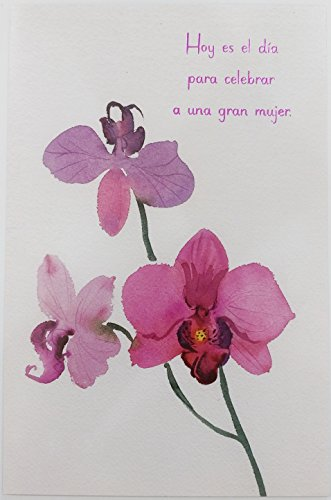 - Feliz Cumpleanos Para Celebrar a Una Gran Mujer - Happy Birthday for Her Woman Greeting Card in Spanish