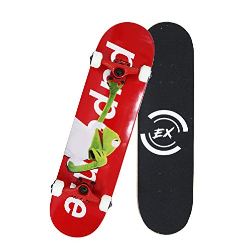 """Pro Skateboards 31"""" X 8"""" Standard Skateboards Cruiser Complete Canadian Maple 8 Layers Double Kick Concave Skate Boards"""