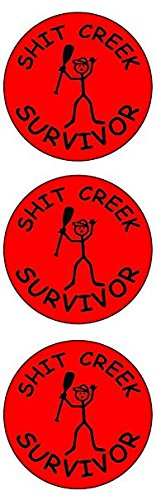 Set Sht (3 pieces SET | SHT CREEK SURVIVOR | Hard Hat Sticker | Decal | Helmet Label Rude Funny)