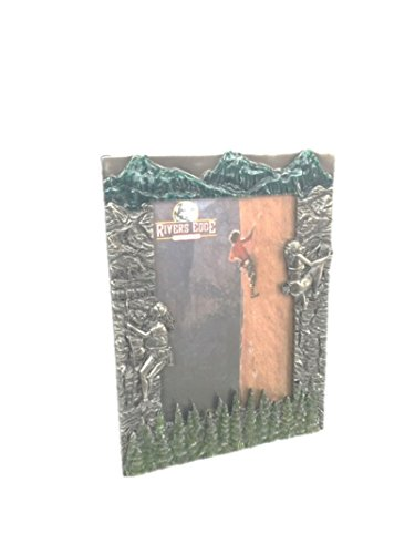 Pewter Rock Climbing Picture Frame  4 by 6
