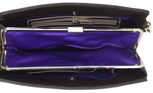 Versace, Borsa a spalla donna Marrone blu scuro 34 cmx 20 cmx 6 cm