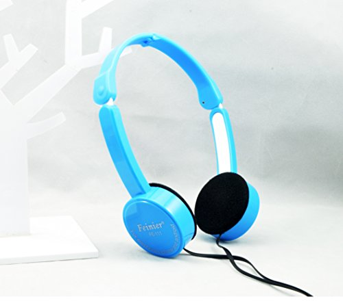 Lifelines Microphone Cable - GONGYU Fashion Kids Foldable Portable Headphones Travel Game Headset Children Foldable Wired Headphones Portable 3.5mm Earphone with Wire Control Microphone for MP3 MP4 Computer(FE111 Blue)